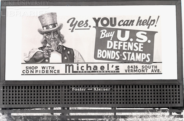 Propaganda billboards in 1940