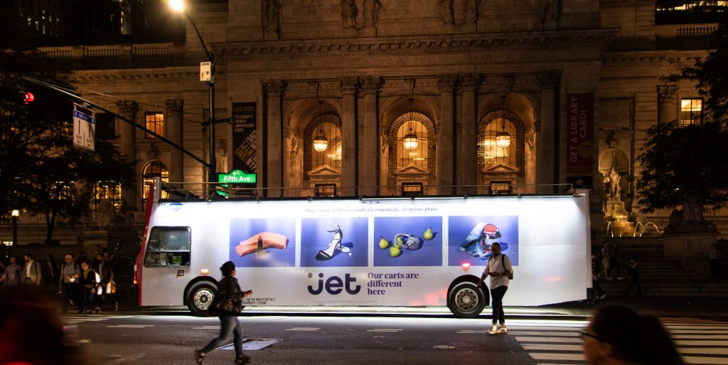 LUX - Illuminated double decker bus advertising