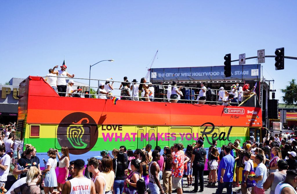 Chipotle at Pride Parade 2019