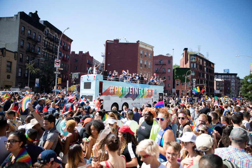 Delta Airlines at Pride Parade 2019