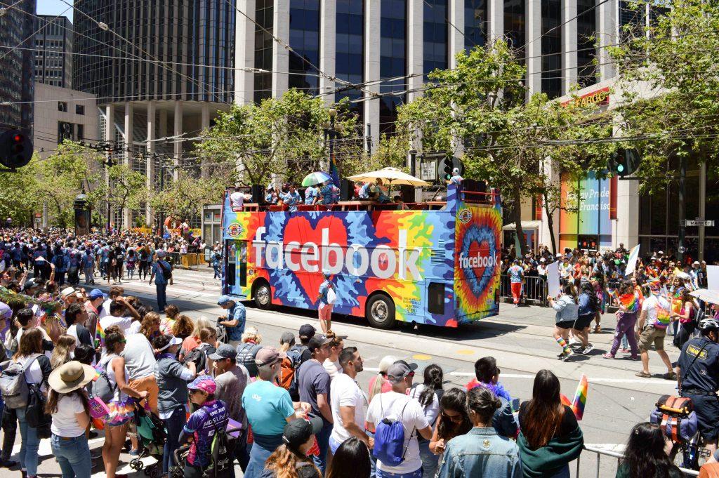 Facebook at Pride Parade 2019
