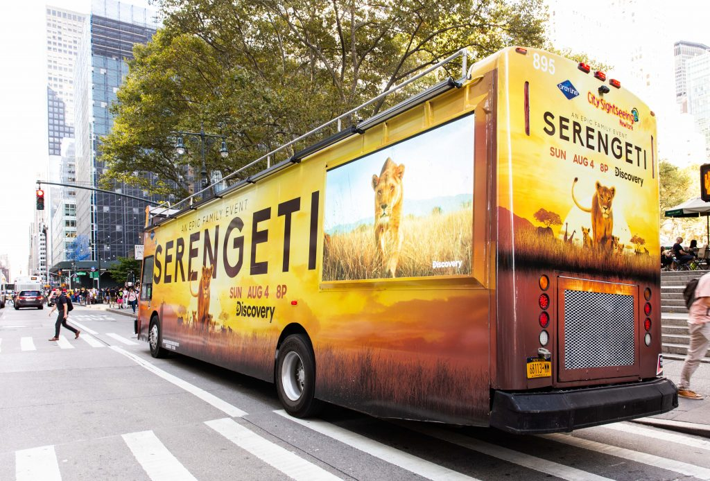 discovery serengeti ad on vectors DDTV product