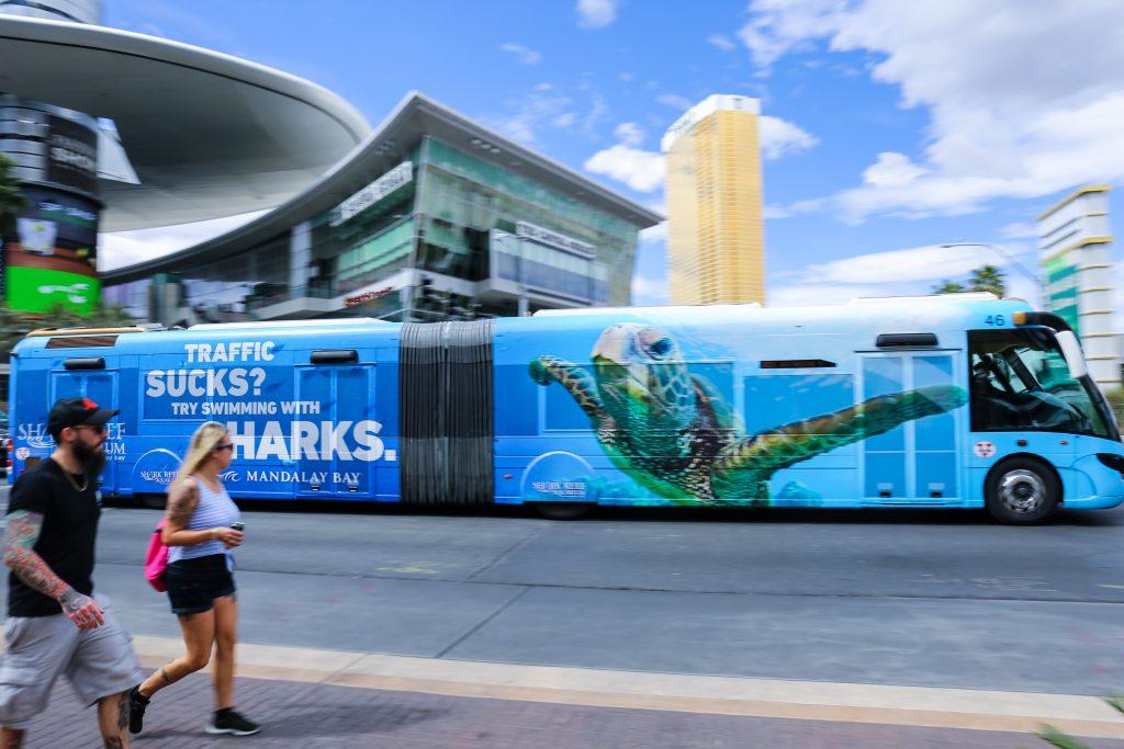 Streetcar advertising Las Vegas