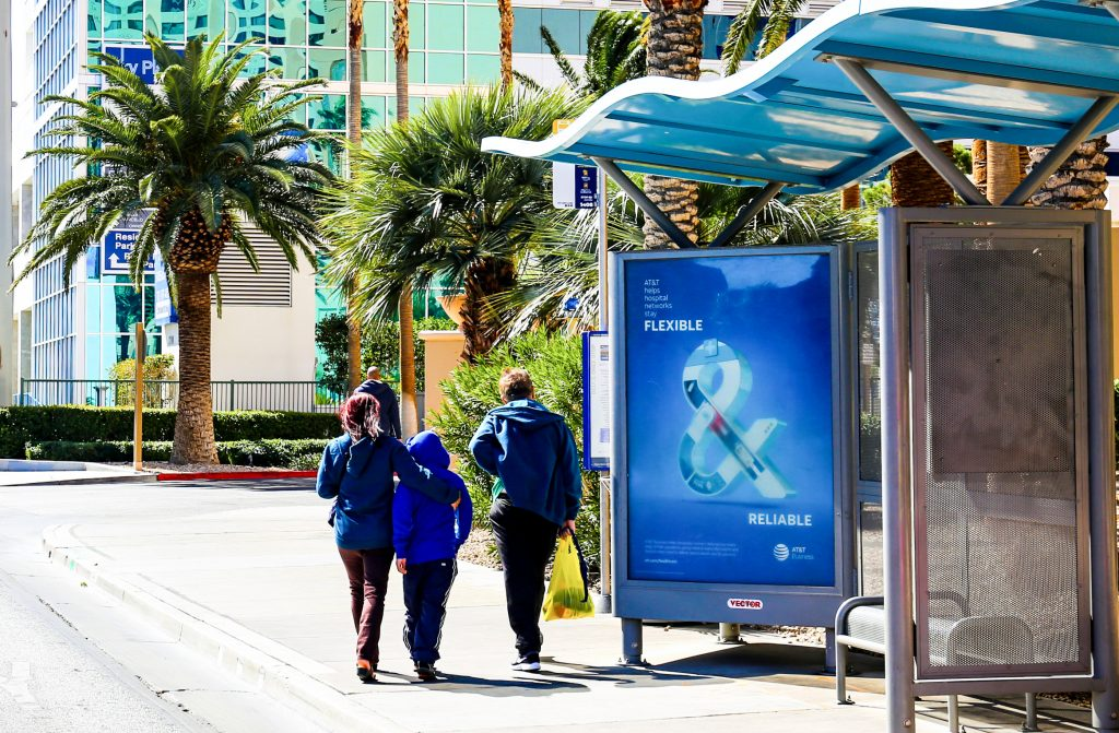 Bus stop advertising Las Vegas