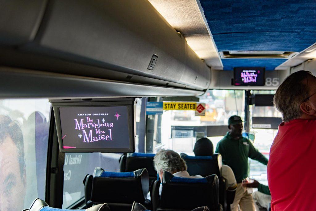 On-Board Video Advertising - Hampton Jitney