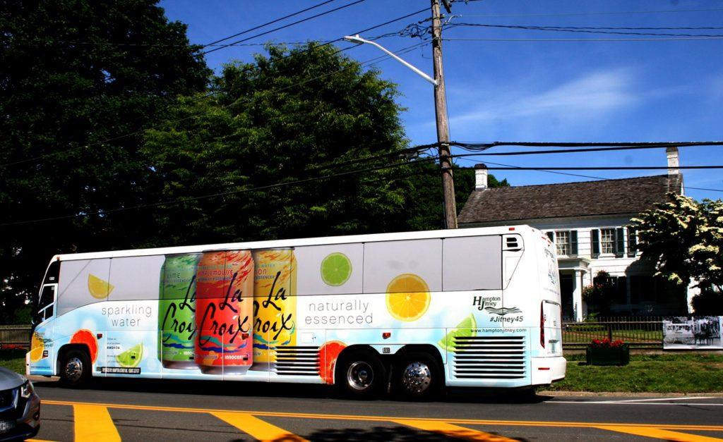 La Croix Full Wrap Bus Advertising